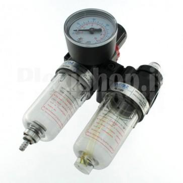 """Riduttore di pressione AFC2000 con filtro anticondensa e manometro, G1/4"""""""