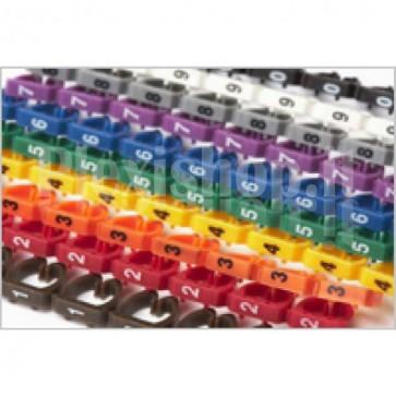 Segnacavo colorato con numeri 0-9 per cavi da 1.5mmq