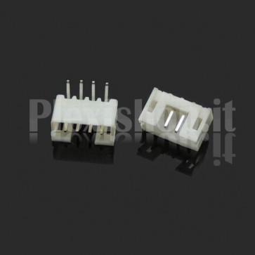 PH2.0-p Pin socket connector angled for PCB, 4 pins