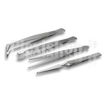 Set 4 pinzette di precisione in acciaio inossidabile