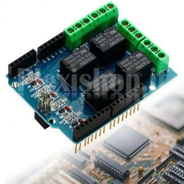 Shield Relay a 4 canali per Arduino, 3A
