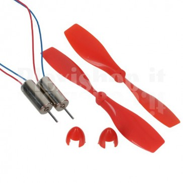 Helicopter micromotor with propellers