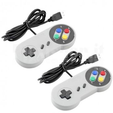 Coppia di Controller SNES USB