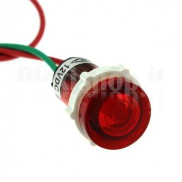 Spia luminosa PL1604W led rossa 12 volt