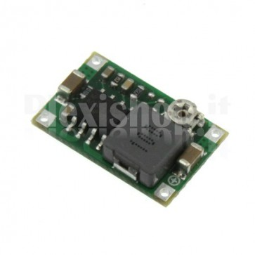 Micro switching regulator DC-DC with adjustable voltage, 1-17VDC