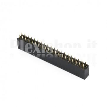 Strip di contatti 2 x 20 femmina passo 2.54mm