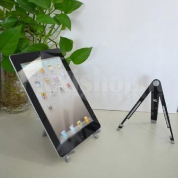 Supporto da tavolo pieghevole per tablet in metallo gommato