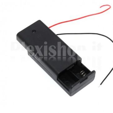 Supporto per due pile o batterie stilo, formato AA