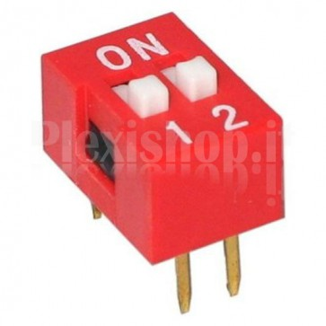 SW4DIP DIP-switch con 2 interruttori indipendenti