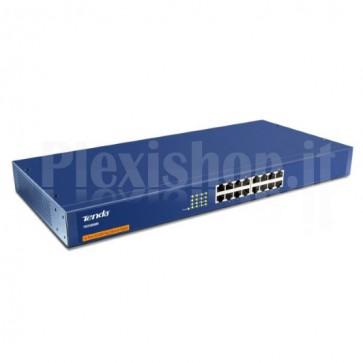 Switch 16 porte 10/100 Blu Unmanaged TEH1600M