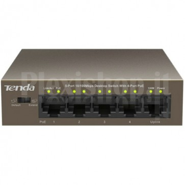 Switch Desktop 5 Porte 10/100 con 4 Porte PoE TEF1105P