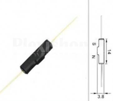 Switch Reed GPS-14B normalmente chiuso, 4x14mm