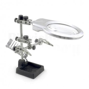 Third hand tool con lente di ingrandimento JM 508-A