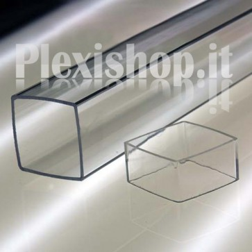 Tubo Quadrato Trasparente 52x52 mm