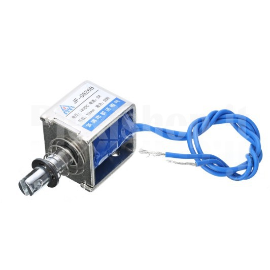 JF-0826B Push-Pull Electromagnet with Spring, 12V