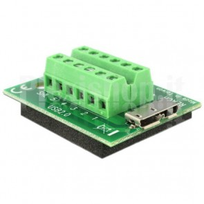 Adattatore Micro USB Femmina Terminal Block 12 pin