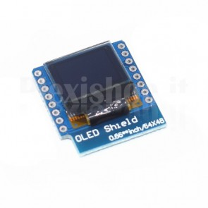 "0.66"" OLED display shield per WeMos D1"