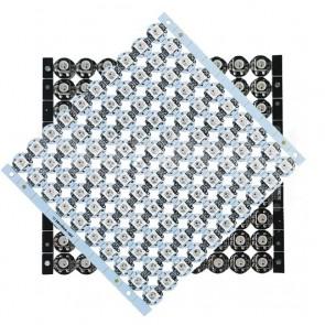 100 LEDs Digitali SMD RGB WS2812B PCB Bianco