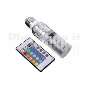Lampadina E 27 RGB + Telecomando