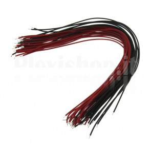 40 red and blacks cables for wiring, length 15 cm