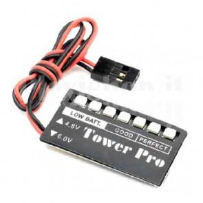 Tester per batterie per modellismo Towerpro