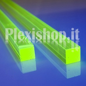 Acrylic Green Fluorescent Bar 50x50 mm
