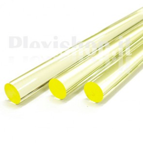 Clear Yellow Acrylic Rod 20 mm