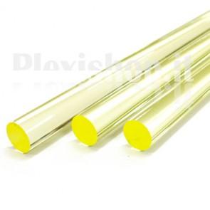 Clear Yellow Acrylic Rod 20 mm