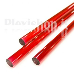Clear Red Acrylic Rod 18 mm