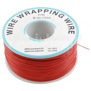 Bobina Cavo wire/wrapping 30AWG - Rosso