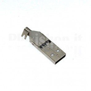 Connettore USB maschio Tipo A, montaggio a saldare