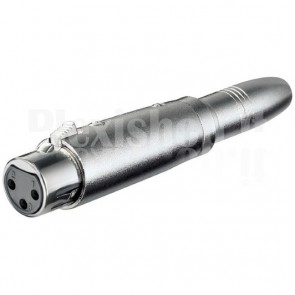 Adattatore XLR Cannon Femmina ad Audio 6,35mm Femmina Mono