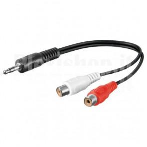 Cavo Audio Stereo 2 RCA femmina a Jack 3.5 mm maschio 1,8 m