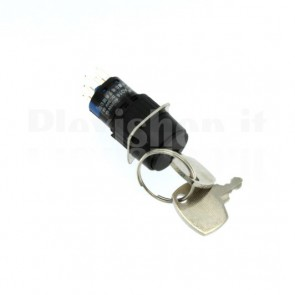 Interruttore a chiave serie 16mm 2P