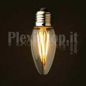 Lampadina Edison filamento LED 1.6W - Oliva 35mm