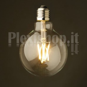 Lampadina Edison filamento LED 3.5W - Mini Globo 80mm