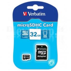 Memoria MicroSDHC da 32 GB, Classe 4 con Adattatore, 43964