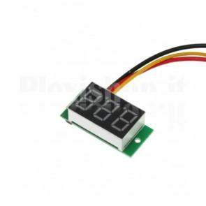 Voltometro digitale da pannello, misura tensioni sino a 30V