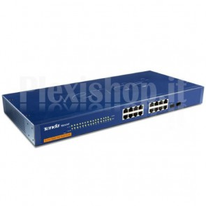 Switch 16 Porte Gigabit + 2 Mini GBIC Gestito L2 Blu TEG1216T