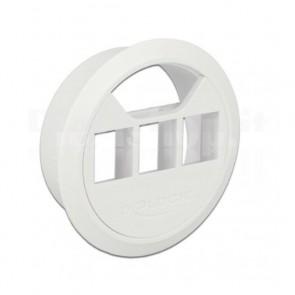 Adattatore da Scrivania diametro 60mm 3 Moduli Keystone Bianco