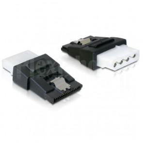 Adattatore di Alimentazione 4 pin Molex F a SATA 15 pin F con Clip