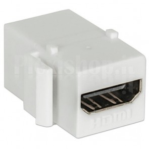 Adattatore HDMI F/F Tipo A per Pannelli Patch Bianco