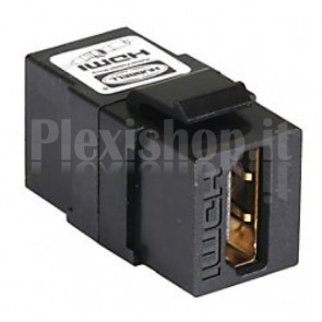 Adattatore HDMI F/F Tipo A per Pannelli Patch Nero