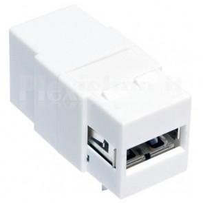 Adattatore Keystone USB 2.0 A Femmina / B Femmina Bianco