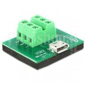 Adattatore Micro USB Femmina Terminal Block 6 pin