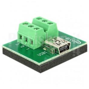 Adattatore Mini USB Femmina Terminal Block 6 pin