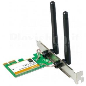 Adattatore PCI Express 2.0 1x Wireless 300 Mbps