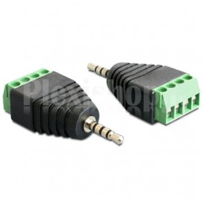 """Adattatore Audio 2.5"""" Maschio a Terminal Block 4 pin"""