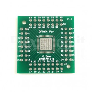Adattatore SMT DIP - 32 44 64 80 100 pin formato QFN / QFP, 0.5mm