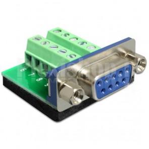 Adattatore DB9 pin Femmina Terminal Block 10 pin